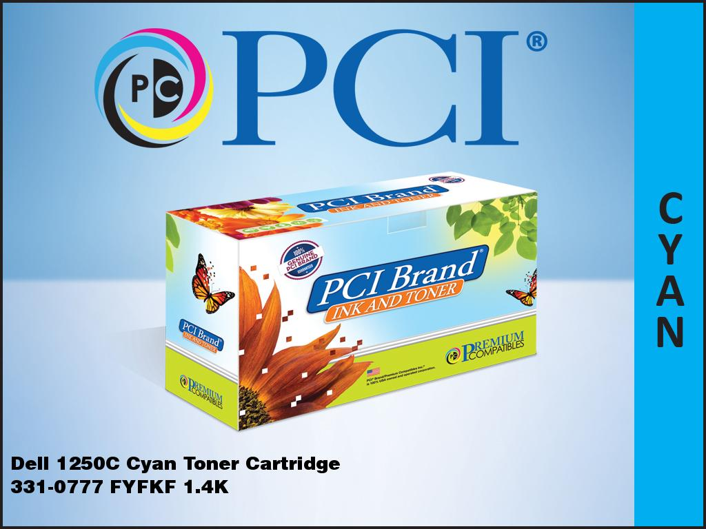 PCI Brand® Dell 331-0777 Cyan Toner Cartridge Replacement