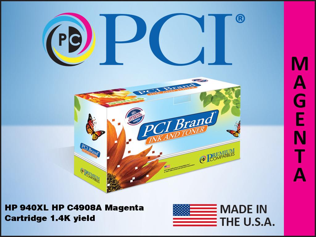 Myriad Re-Manufactured Inkjet Cartridges Replacement for HP C4909AN 9 Inkjet Cartridges Bulk: RC4909 C4905AN; Models: OfficeJet Pro 8000 8500; Yellow Ink